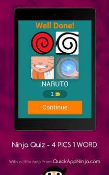 Ninja Manga Quiz - 4 PICS 1 Word screenshot 11