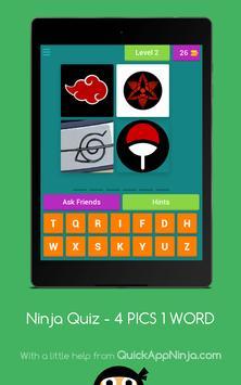 Ninja Manga Quiz - 4 PICS 1 Word screenshot 12
