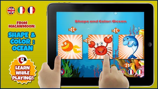 Ocean Shape Color poster