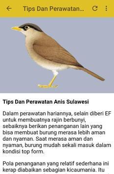 Kicau Anis Sulawesi Gacor apk screenshot