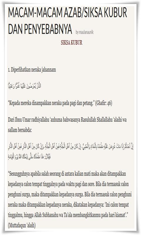 Macam Macam Azab Kubur For Android Apk Download