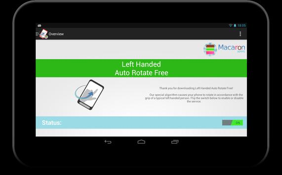Left Handed Auto Rotate Free screenshot 4