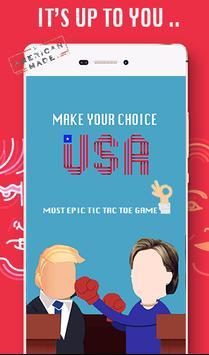 Trump Vs Hillary Tic Tac toe poster