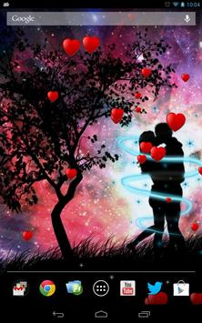 Romantic floating hearts LW apk screenshot