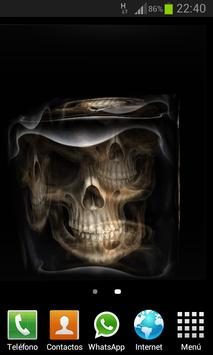 Skulls Cube 3D LWP poster