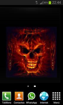 Skulls Cube 3D LWP screenshot 1