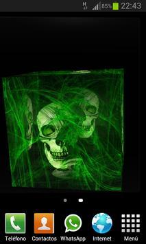 Skulls Cube 3D LWP screenshot 3