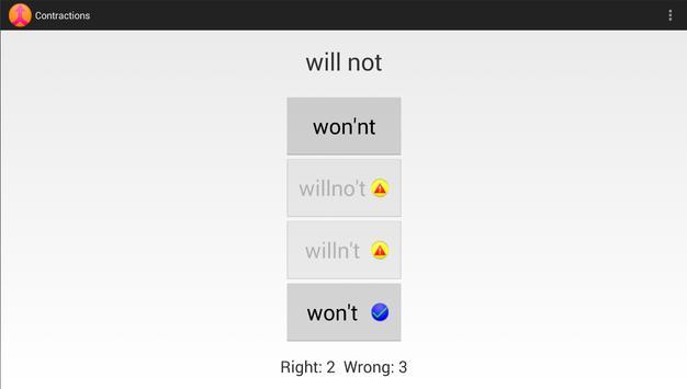 Contractions -English Language apk screenshot