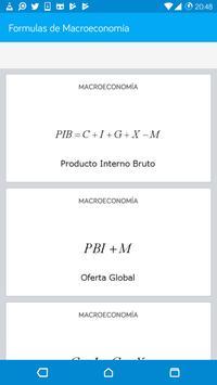 Formulas de Macroeconomía poster
