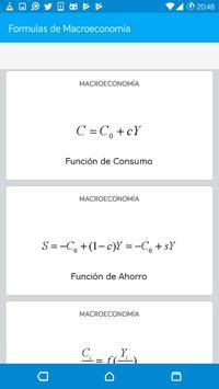 Formulas de Macroeconomía screenshot 1