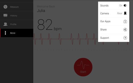 Cardiograph - Heart Rate Meter apk screenshot