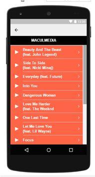 Ariana Grande Songs Lyrics apk screenshot