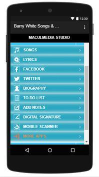 Barry White Songs & Lyrics screenshot 2