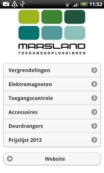 Maasland poster