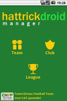 HattrickDroid Manager poster