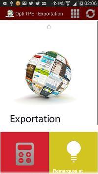 Opti TPE - Exportation poster