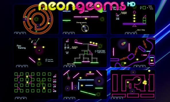 Neon Geoms Free poster