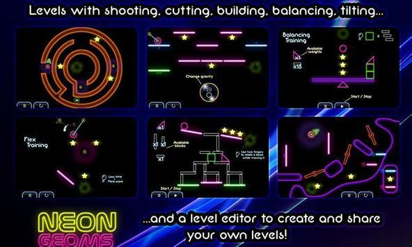 Neon Geoms Free apk screenshot