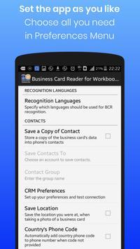 Business Card Reader for Workbooks CRM screenshot 3