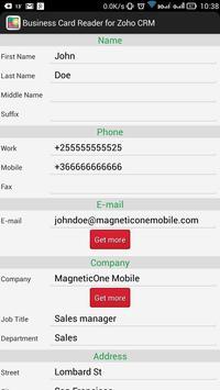 Business Card Reader for Zoho CRM screenshot 15