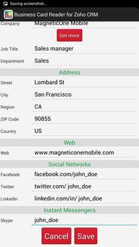 Business Card Reader for Zoho CRM screenshot 16