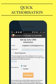 Business Card Reader for Zoho CRM screenshot 1