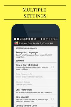 Business Card Reader for Zoho CRM screenshot 4