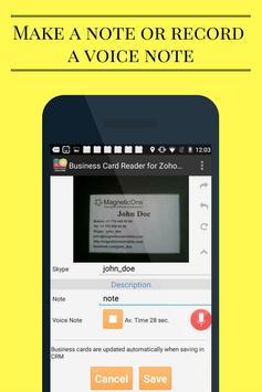 Business Card Reader for Zoho CRM screenshot 7