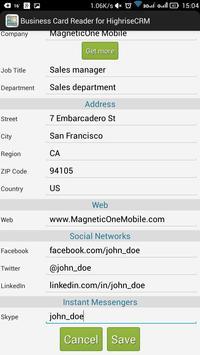Business card reader for highrise crm apk download free business business card reader for highrise crm apk screenshot reheart Images