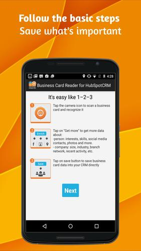 Business card reader for hubspot crm apk baixar grtis corporativo business card reader for hubspot crm apk baixar grtis corporativo aplicativo para android apkpure reheart Images