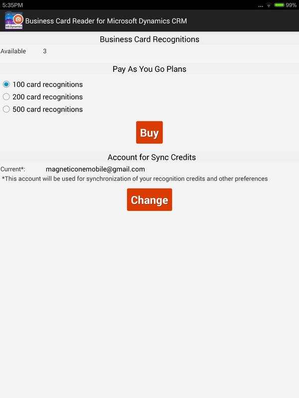Business Card Reader for MS Dynamics CRM APK Download - Free ...