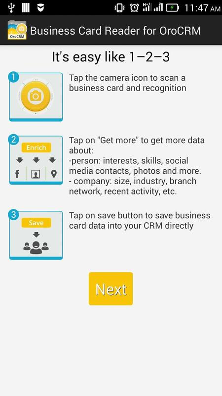 Business card reader for oro crm apk download free business app business card reader for oro crm poster reheart Images