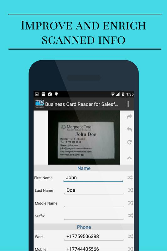 Business card reader for salesforce crm apk baixar grtis business card reader for salesforce crm apk imagem de tela reheart Gallery