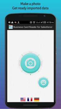 Business Card Reader for SalesforceIQ CRM poster