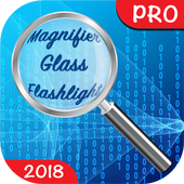 🔎 Magnifier Glass with Flashlight PRO icon