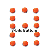 8-bits buttons icon
