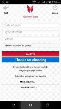 Magnolia Event Planner screenshot 7