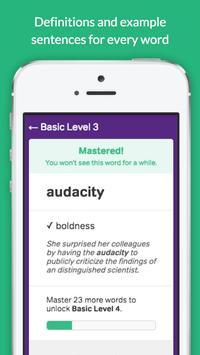 GRE Vocabulary Builder - Test Prep screenshot 1