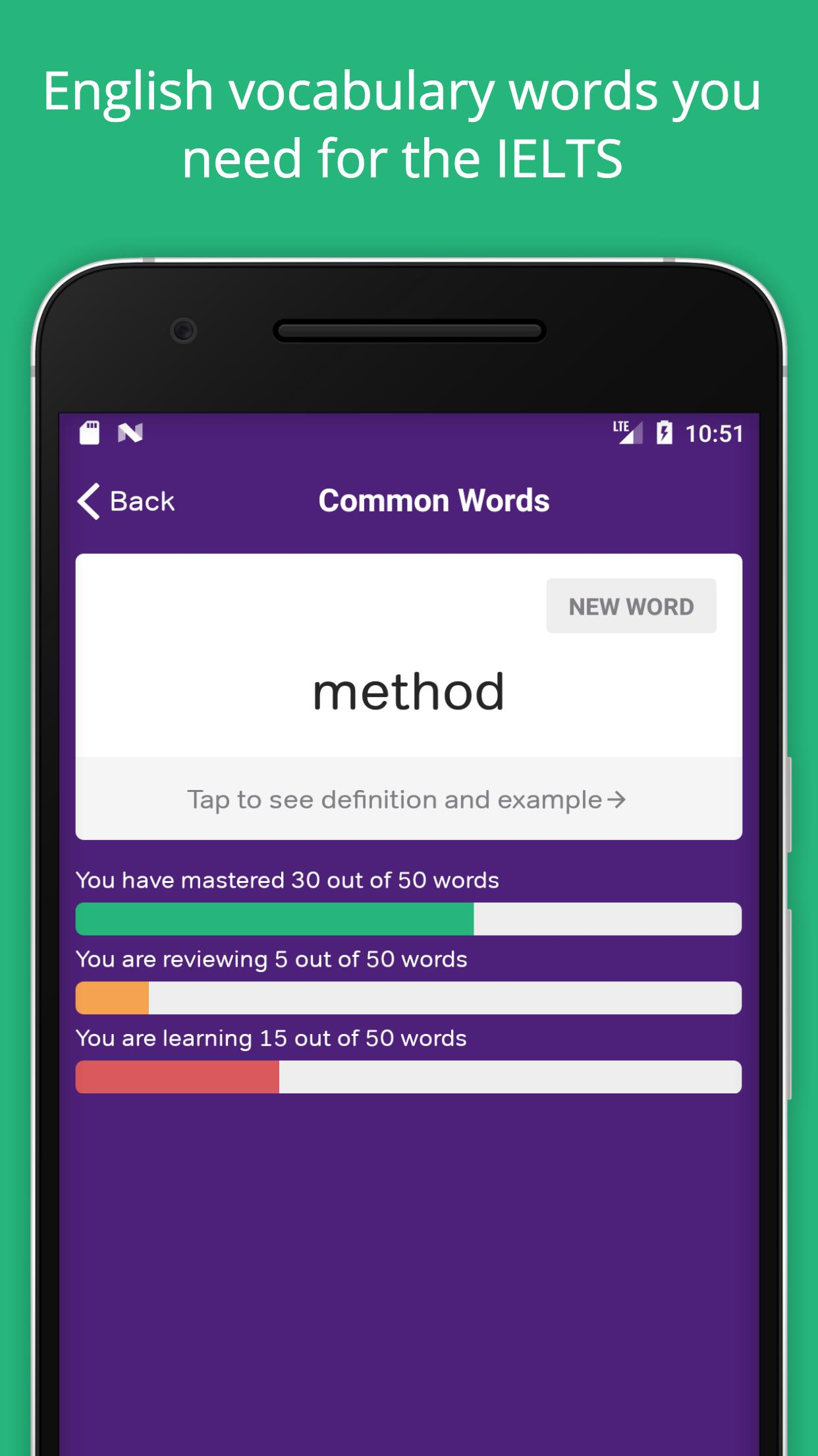 IELTS Exam Preparation: Vocabulary Flashcards for Android