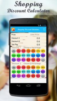 Shopping Discount Calculator screenshot 1