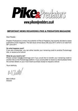 Pike & Predators poster