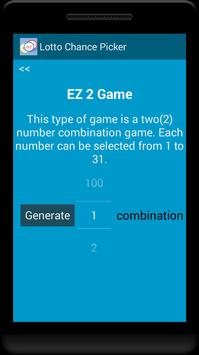 Lotto Chance Picker apk screenshot