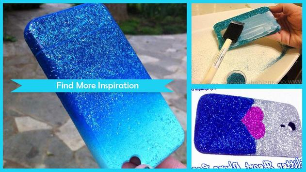 Easy DIY Glitter Phone Case poster