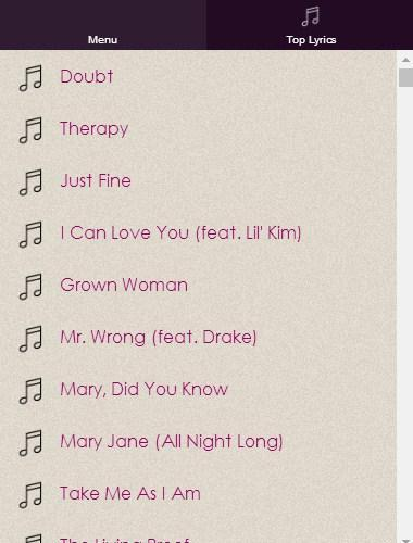 Mary J  Blige Lyrics for Android - APK Download