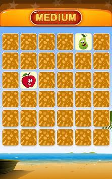 Fruits Memory Match Game apk screenshot