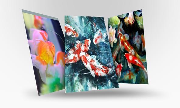 Lively Koi Fish 3D Theme Wallpapers screenshot 1