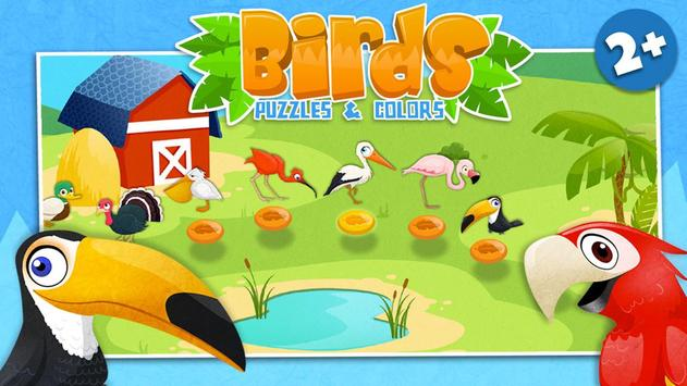 Birds - Kids Coloring Puzzle poster