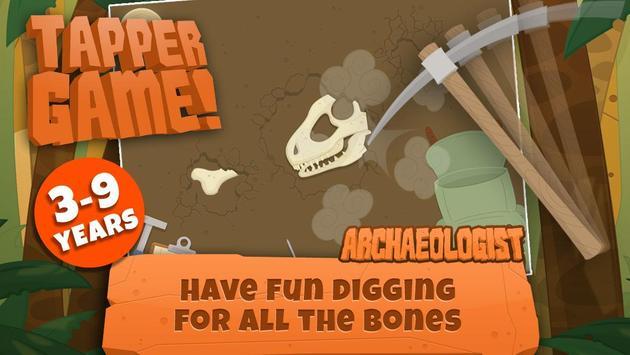Dinosaurs for kids : Archaeologist - Jurassic Life poster