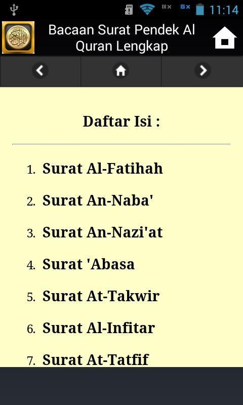 Bacaan Surat Pendek Al Quran Lengkap Für Android Apk