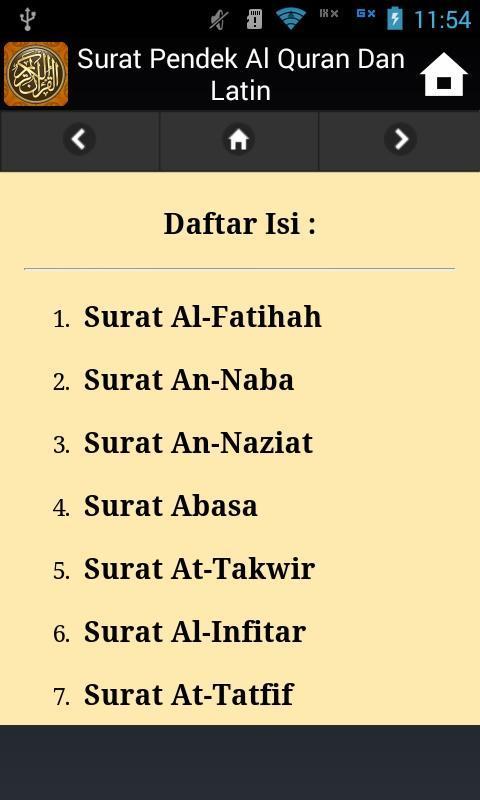 Surat Pendek Al Quran Dan Latin For Android Apk Download